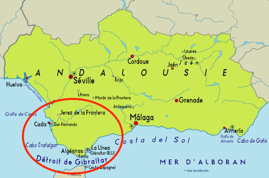 villes andalouses