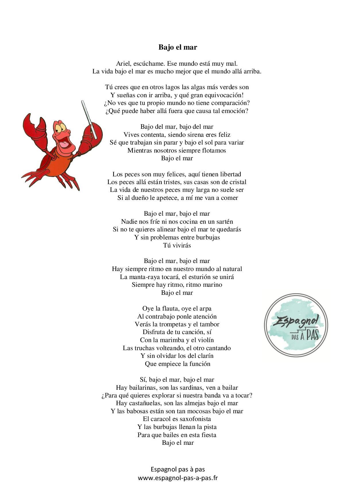 Apprendre l'espagnol grâce aux chansons Walt Disney ...