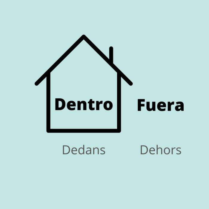 Adverbe lieu espagnol dentro dedans