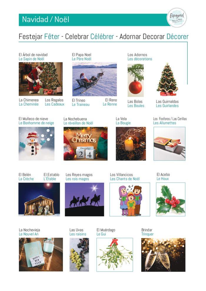 Noël mots liste espagnols