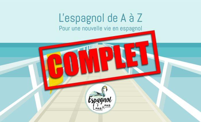 Espagnol de A a Z COMPLET Inscription