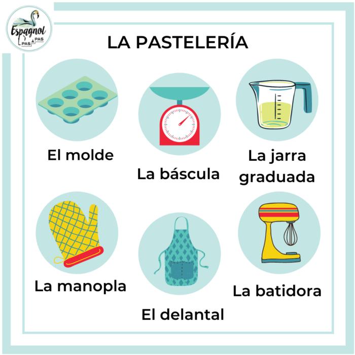 Cuisine patisserie herramienta espagnol