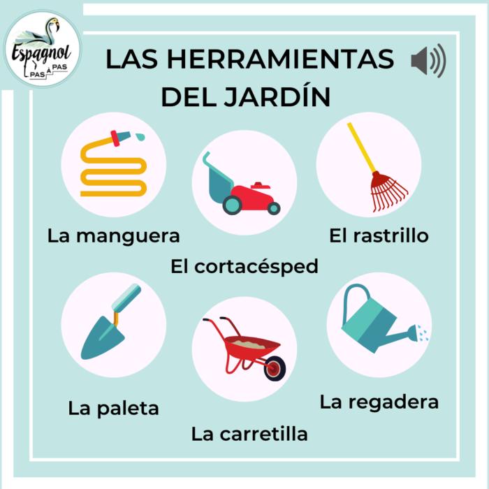 Outil de jardin herramienta espagnol