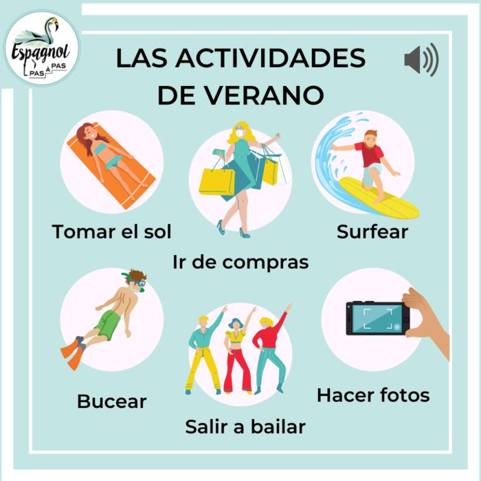Les activites a faire pendant l ete en espagnol